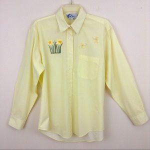 Las Olas Yellow & White Daffodil Bumblebee Shirt